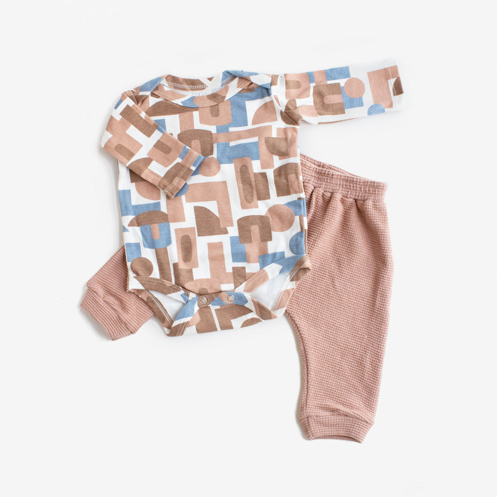 Decades Long Sleeve Onesie - Natural
