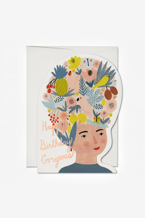 Fruit Hat Lady Card