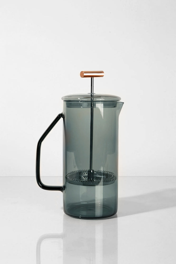 Glass French Press - Gray