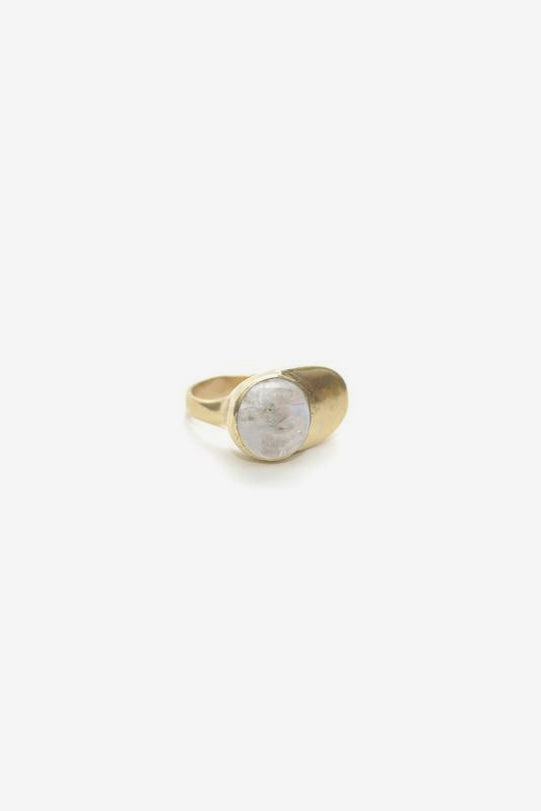 Esposa Ring - Brass with Moonstone