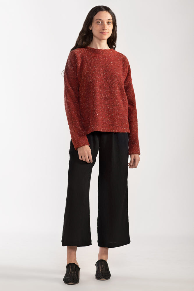 Pebble Knit Sweatshirt #2 - Ruby