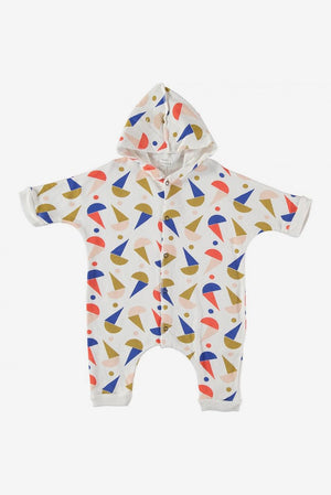 Hooded Romper - Geometry
