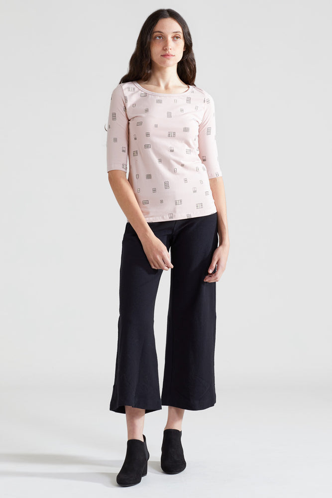 Window Organic Scoop Top - Dusty Rose