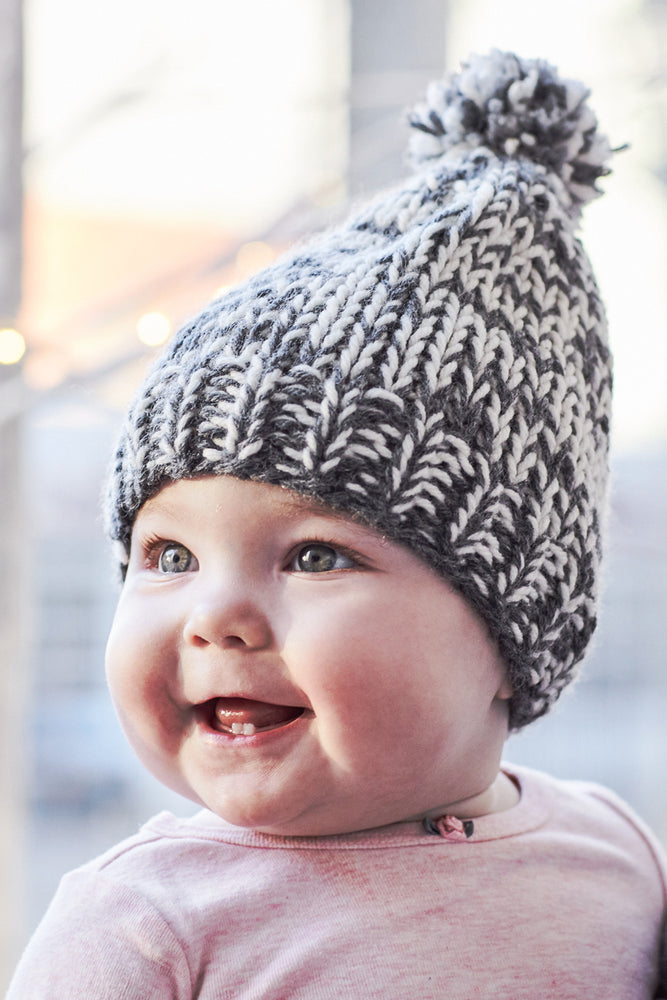 Hand Knit Hat by Mom - Baby