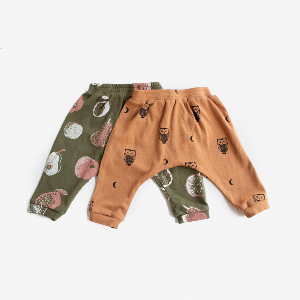 Owls and Moons Harem Pant - Toffee