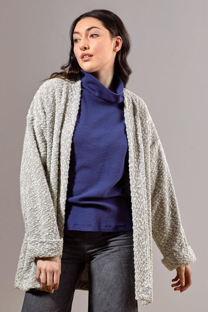 Pebble Knit Cardigan #2 - Silver