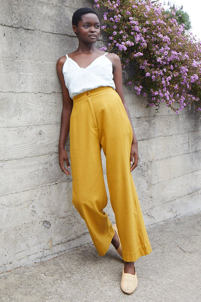 Straight Leg Pant - Sunflower