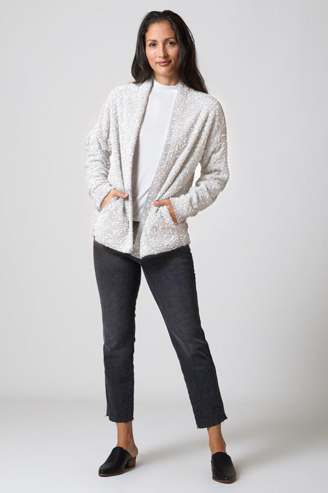 Pebble Knit Cardigan - Cream