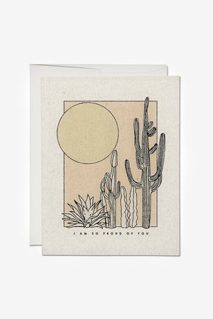 Desert Sunrise Congrats Card