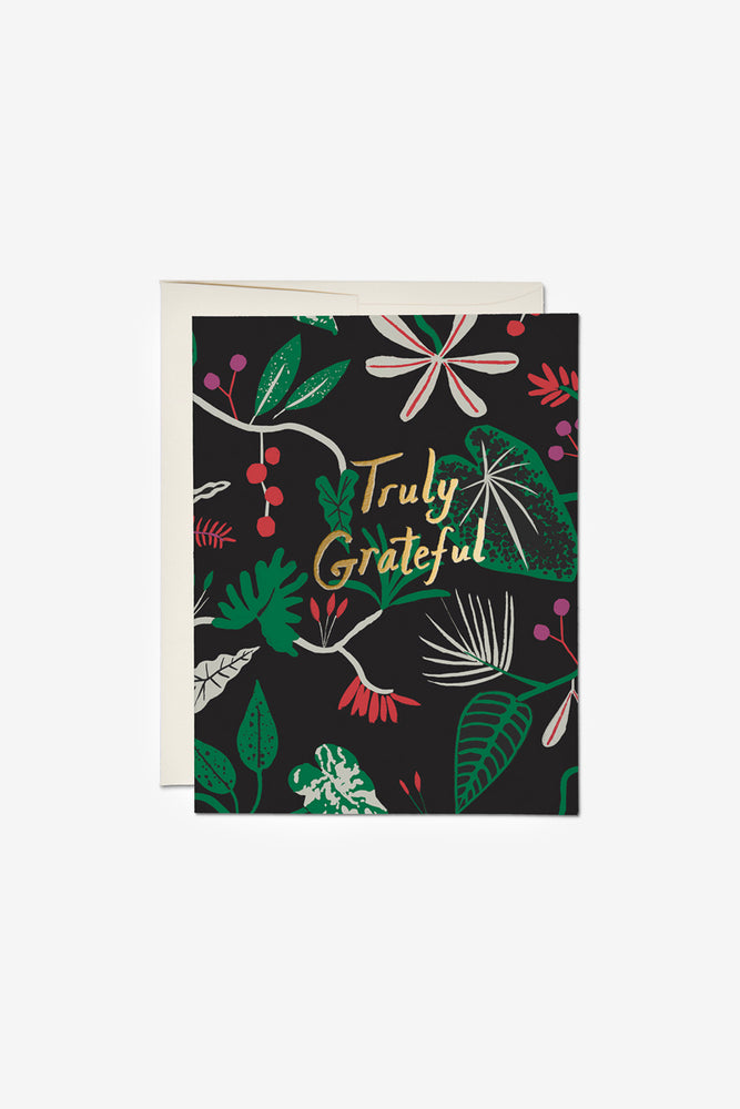 Grateful Foliage Thank You Card