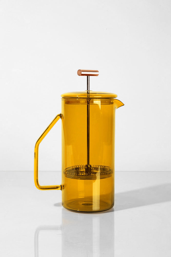Glass French Press -  Honey