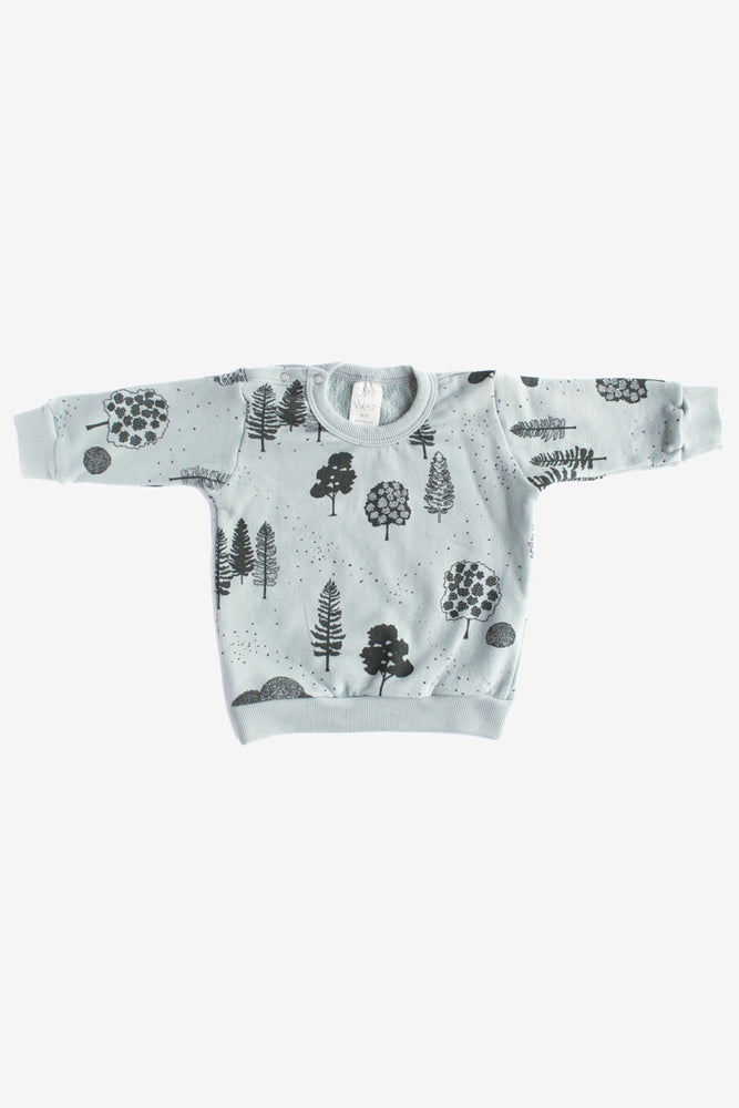 Trees Organic Sweatshirt - Storm with Charcoal