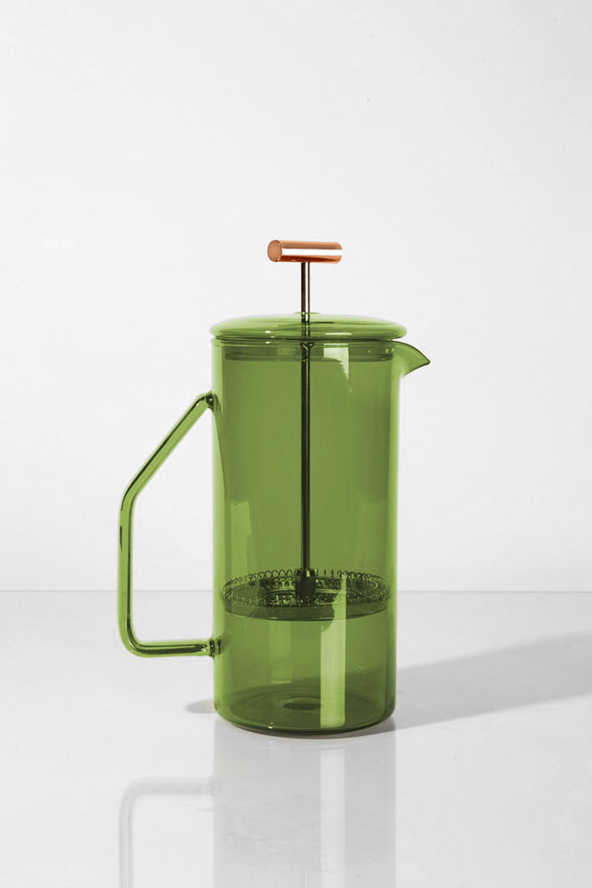 Glass French Press -  Verde