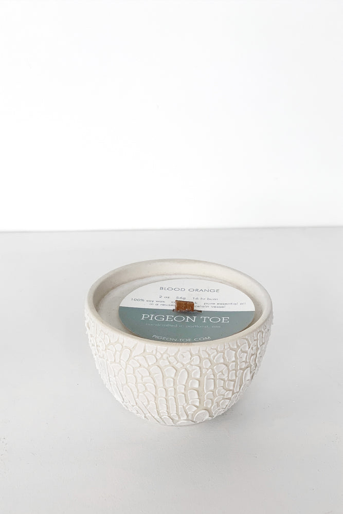 Mini White Crawl Candle