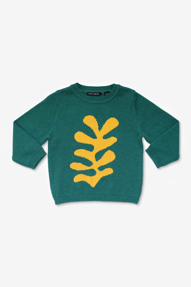 Yellow Plant Sweater
