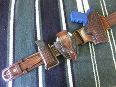 Custom Glock 23 2-Slot Holster, Ranger Belt, Mag Holder & Handcuff Holder