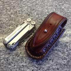 Sheath for a Leatherman Wave Multi-Tool made for a client in Scotland