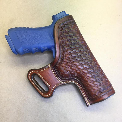 "The ""Sidekick"" Holster for a Glock 17/22/31..... Handmade from Saddle Leather."