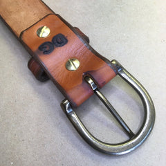 "36"" Leather Holster Belt... Handmade From Saddle Leather...Basketweave Tooling"