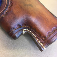 "NEW!!! The ""Ridge"" Holster for a Glock 19..... Handmade from Saddle Leather"