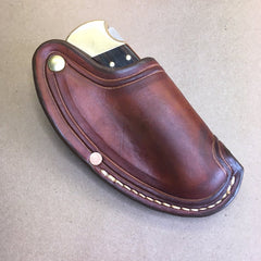 "The ""One-Hander"" Knife Sheath... One Hand Opening... Border Tooling...For The Buck 110 Folding Hunter Knife."