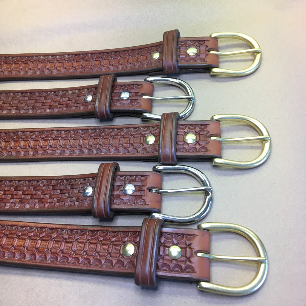 Order Page, Custom Leather Belt  with Choice of Tooling and Dye Color