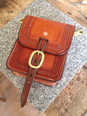 Conceal Carry CCW Snap On Custom Leather Concert / Horsemans Purse