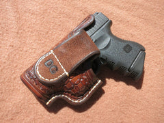 Custom Leather Holster For Glock 26/27/33. Hand-Tooled And Hand-Stitched.