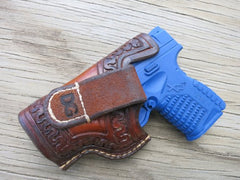 "Custom Leather Holster for Springfield XDs .45 3.3"" OWB Leather Holster"