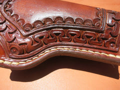 Custom Leather Holster For 1911 Commander. Hand-Tooled And Hand-Stitched.