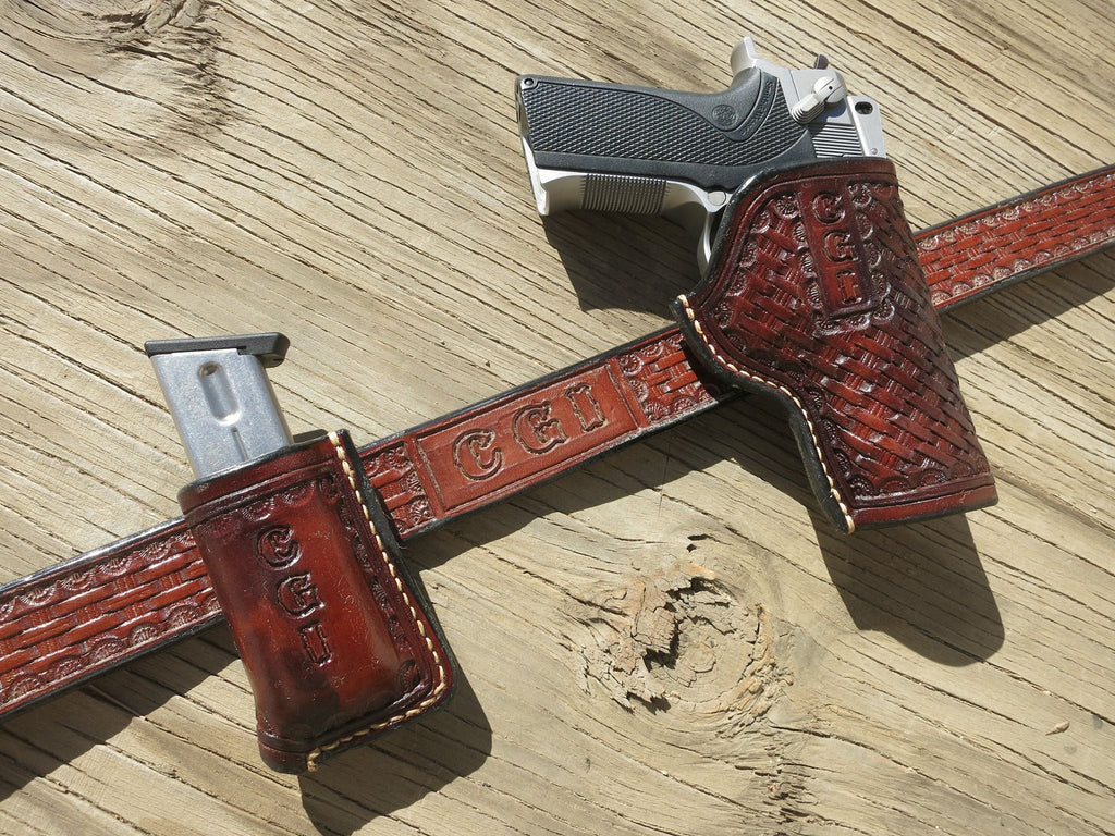 Order Page, Custom Leather Holster, Belt, and 1 Mag Holder Combo