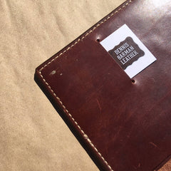 Leather Journal... Saddle Leather... Handtooled... Handstitched.