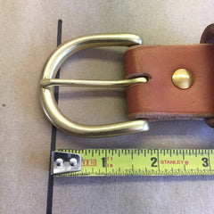 Outdoorsman Belt... Made To Your Size... Your Choice Of Color And Buckle... Handmade From Thick Bridle Leather.