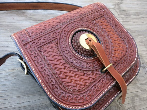 Leather Saddlebag Purse