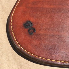 Leather Whiskey Coaster... Wine Coaster... Saddle Leather... Handtooled... Handstitched.