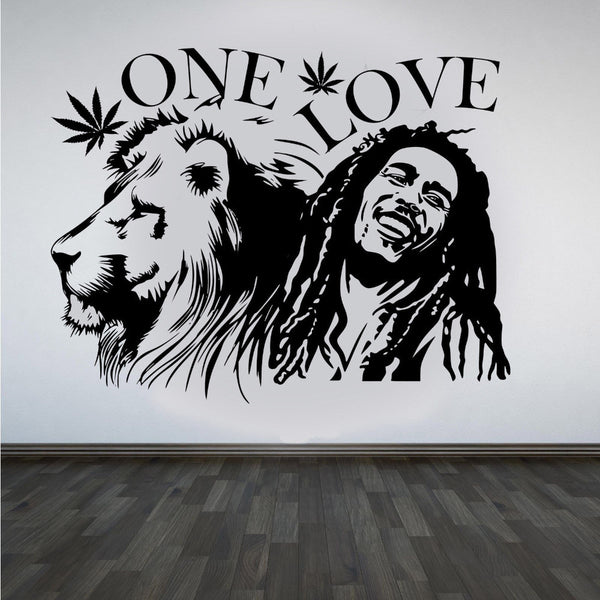 """ONE LOVE"" Mural   (Home - Happy Leaves"