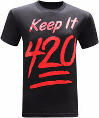 Keep It 420 T-Shirt 100% cotton - Happy Leaves