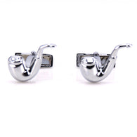 Pipe Cufflinks - Happy Leaves