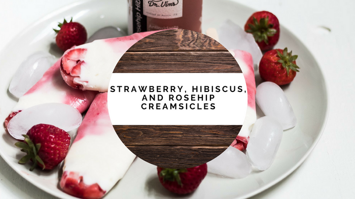 Strawberry, Hibiscus, and Rosehip Creamsicles