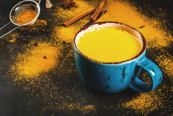 A Turmeric Milk Medicinal Mushroom Latte to Fight Off Inflammation & Boost the Immune System