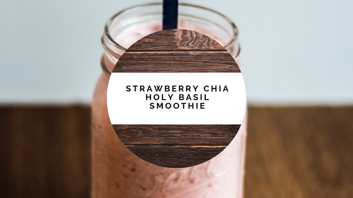 Strawberry Chia Holy Basil Smoothie