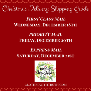 2019 Christmas Delivery Shipping Guide