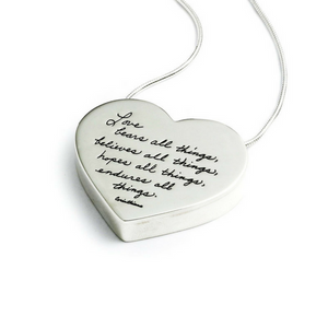 Love is Patient Sterling Silver Necklace BB Becker