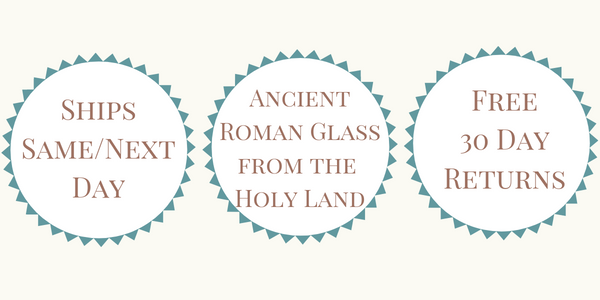 Ships Same or Next Day - Ancient Roman Glass from the Holy Land - Free 30 Day Returns