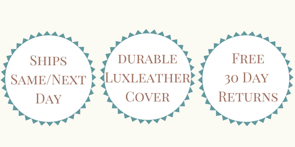Ships Same or Next Day - LuxLeather Cover - Free 30 Day Returns