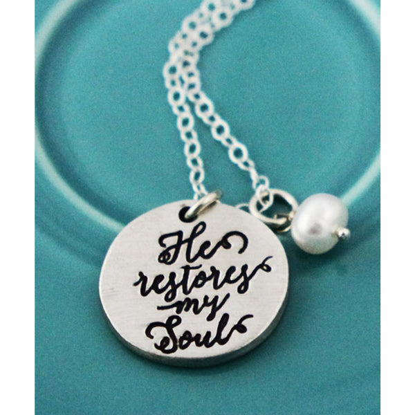 The Vintage Pearl - He Restores My Soul Necklace