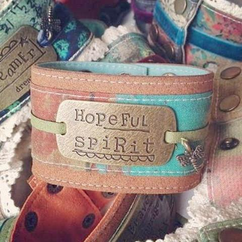 Hopeful Spirit Cuff Bracelet Kelly Rae Roberts