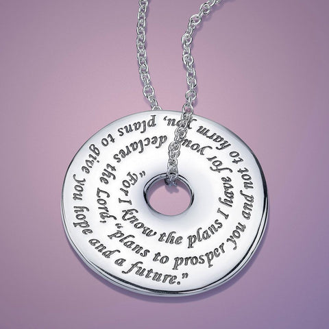 Jeremiah 29:11 Pi Disc Necklace
