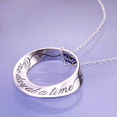 One Day at a Time Necklace Sterling Silver