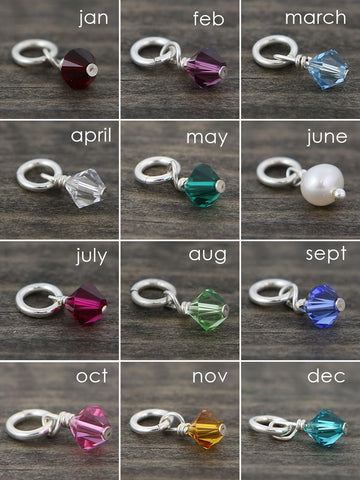Swarovski Crystal Birthstone Charms